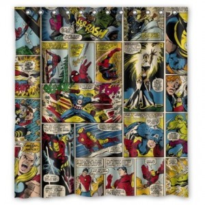 comic avengers shower curtain