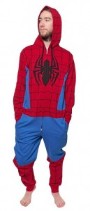 spiderman union suit hooded