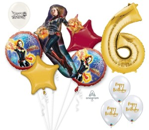 captain marvel birthdya balloon