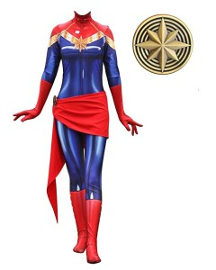 captain marvel costume bodysuit