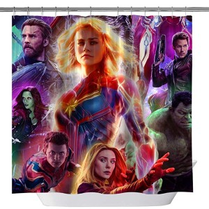 captain marvel shower curtain 2