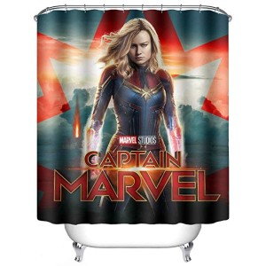 captain marvel shower curtain