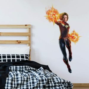 captain marvel wall decal